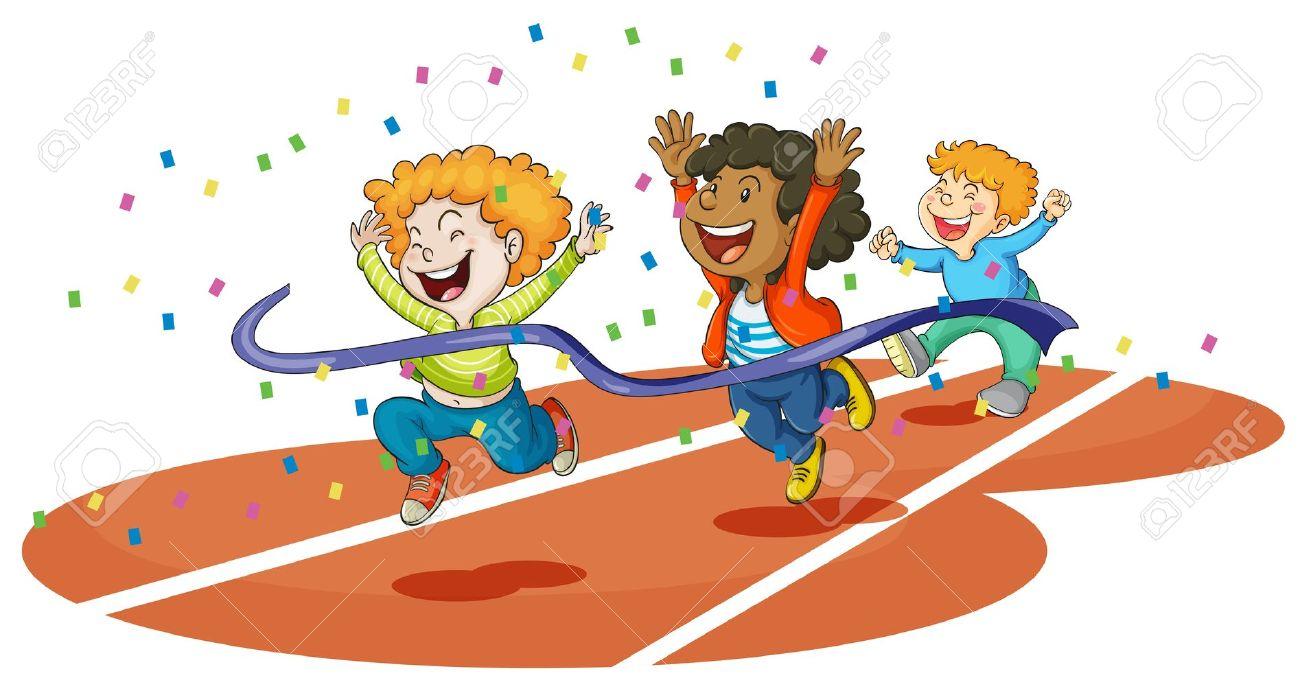 Kids Running Clipart #11
