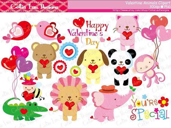 Animl clipart valentine Valentine ClipartFox Valentines animal animal