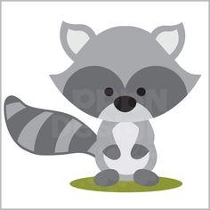 Raccoon clipart woodland (Free Panda Raccoon Clipart Woodland