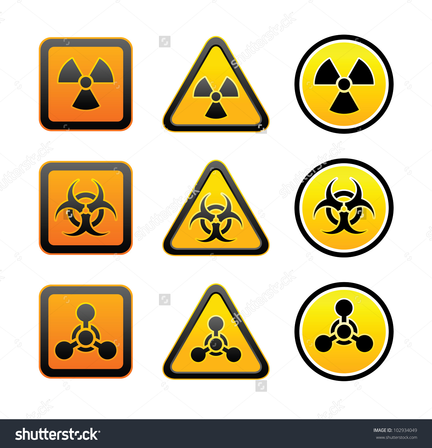 Radioactive clipart hazard sign Law Warning  Hazard Symbols