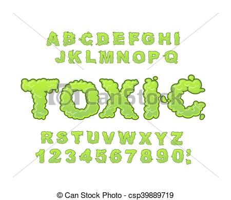 Toxic clipart radiation Typography Radiation Poison Toxic alphabet