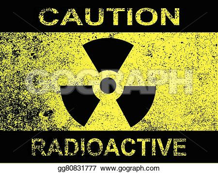Radioactive clipart caution Black and Vector Illustration radiation