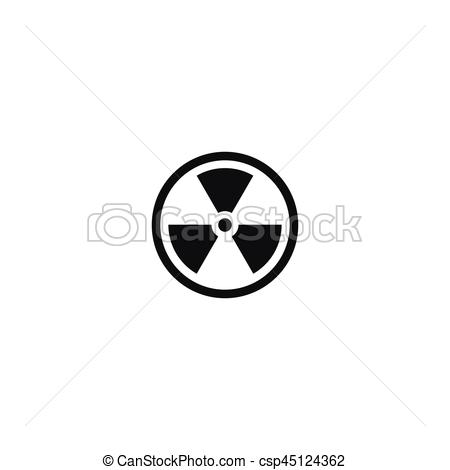 Radioactive clipart caution Of Vector material symbol