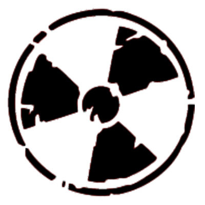 Radioactive clipart cool music Stencil Radioactive template Templates Radioactive