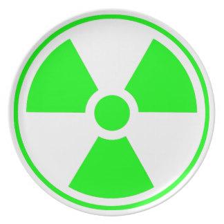 Radioactive clipart emblem Green Radiation Plates Zazzle Radioactive