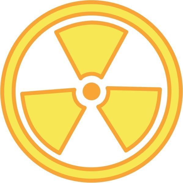 Radioactive clipart emblem Free Warning commercial  Radioactive