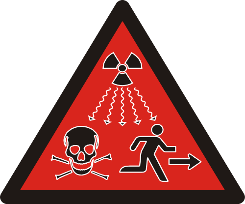 Radioactive clipart hazard sign Sign Ionizing radiation sign Radioactivity
