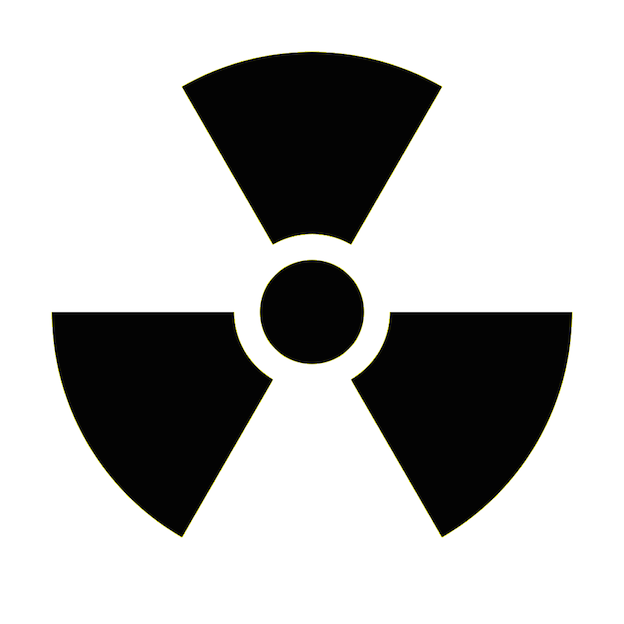 Radioactive clipart hazard sign Decal Warning Hazard Hazard Decal