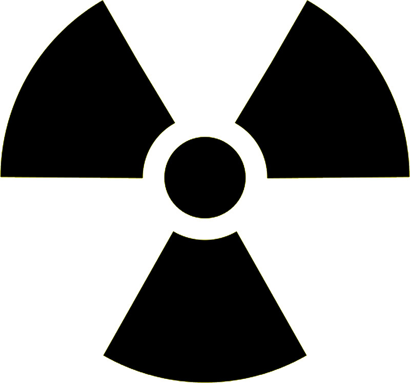 Radioactive clipart hazard sign In in symbol ATOMIC Warning