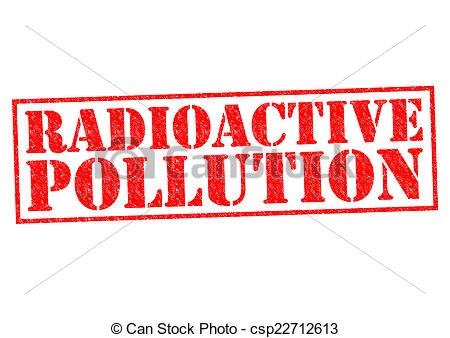 Radioactive clipart red  a Impure over red