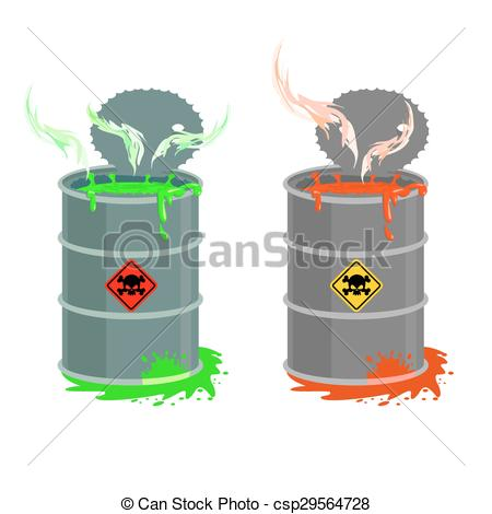 Radioactive clipart red Open Barrel of Grey red