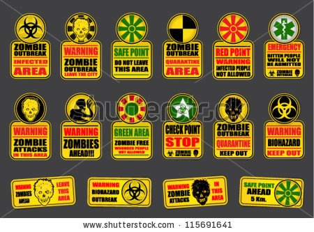 Radioactive clipart zombie apocalypse Zombie on about  Roberts