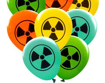 Radioactive clipart zombie apocalypse Party Scientist Birthday decor Decorations