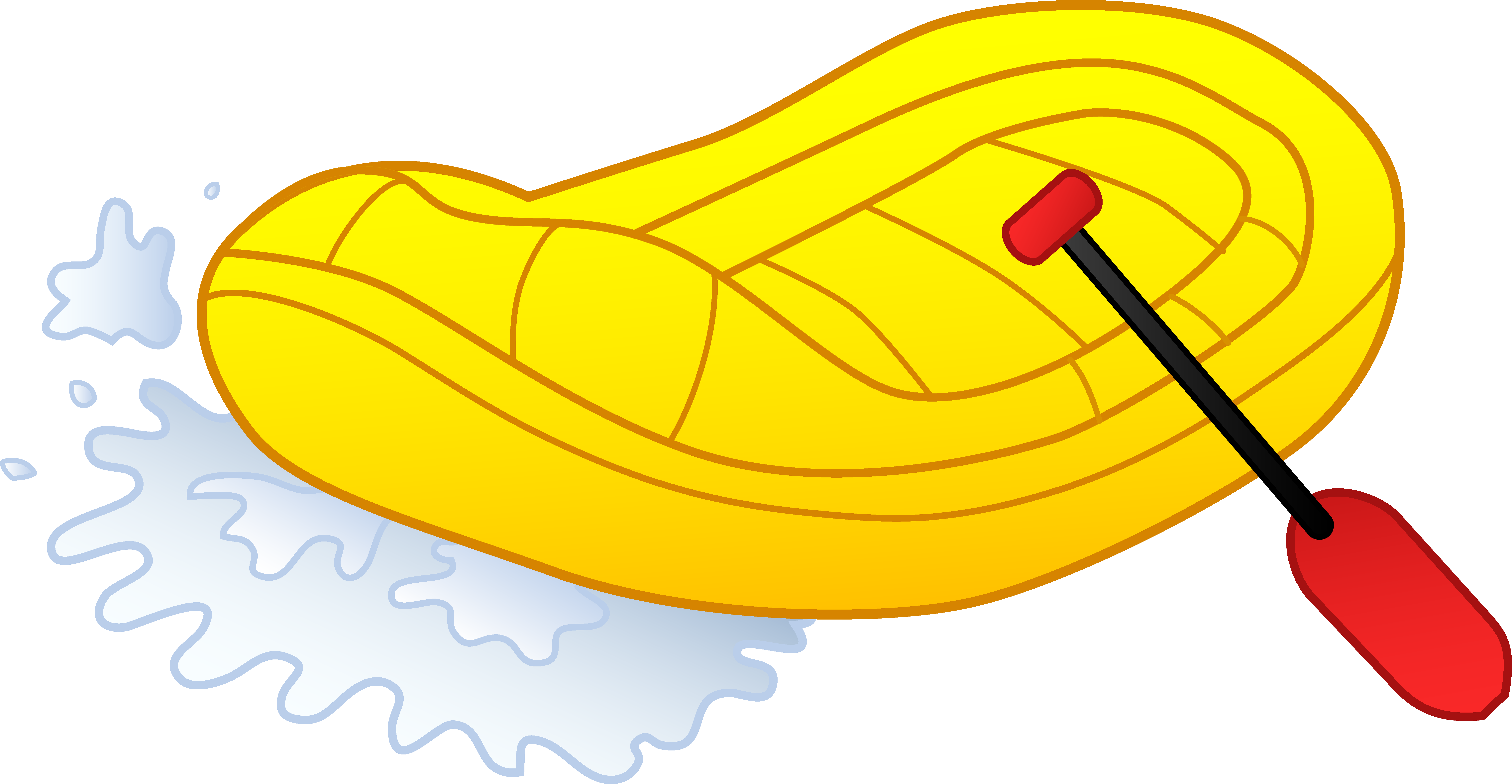 Rafting clipart white water rafting River Art Rafting Illustration Yellow