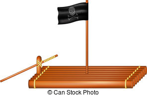 Raft clipart Pirate clipart flag  Graphics