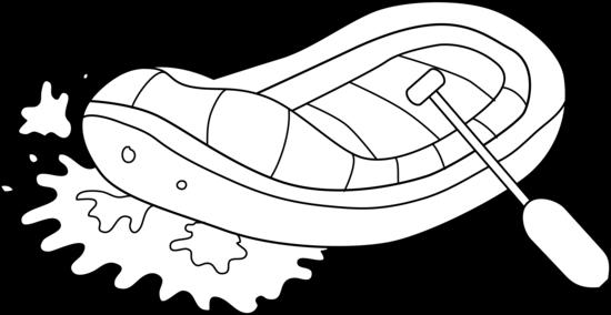 Rafting clipart Art Line Clip Art White