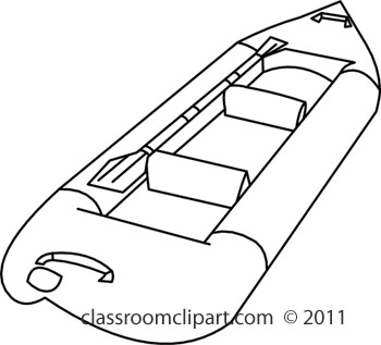 Raft clipart black and white Clipart jpg rubber_raft_R411C Classroom :