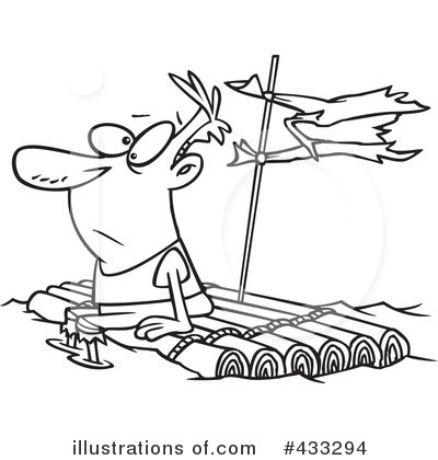 Raft clipart black and white Toonaday by Free Raft Clipart