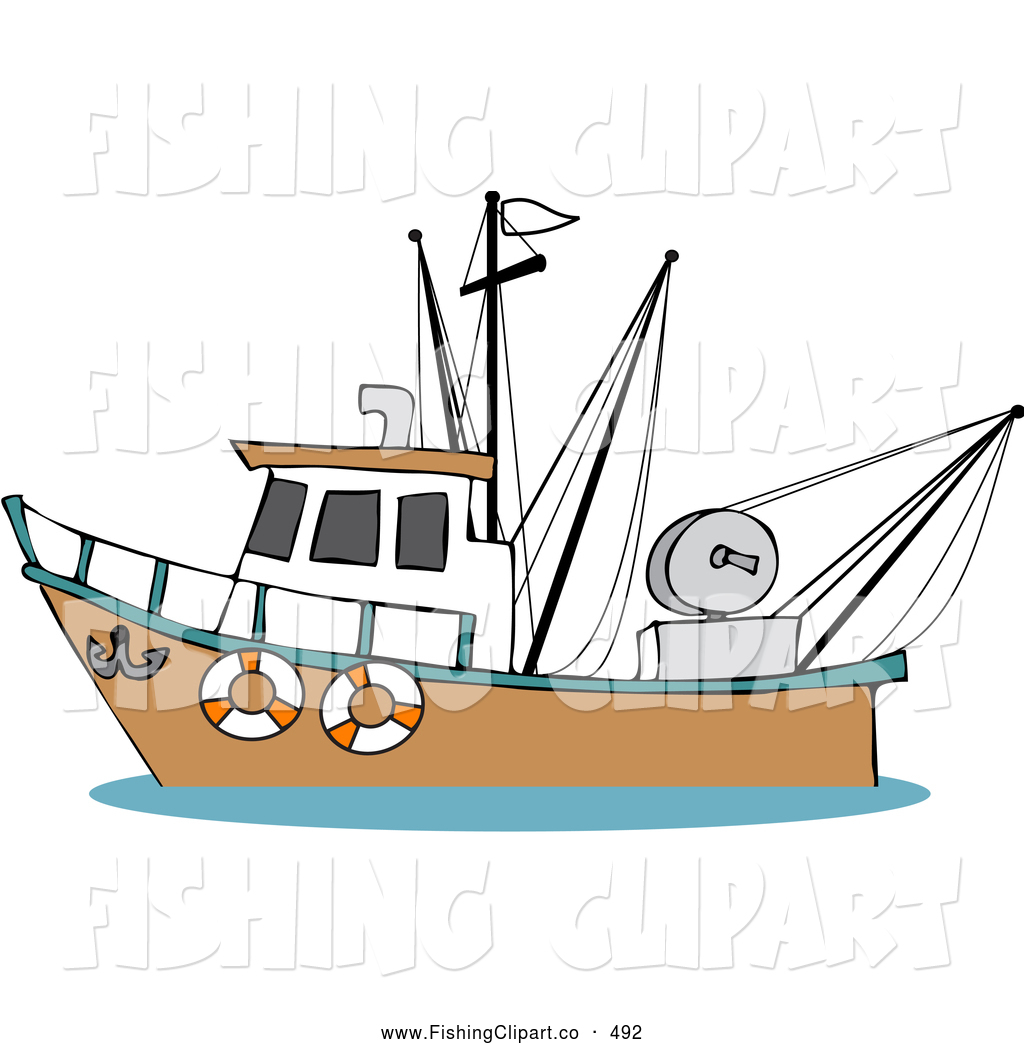 Boat clipart fishing trawler Ocean Boat Stock on Boat