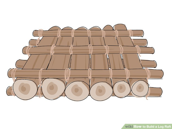 Raft clipart wood To Build Image titled Build