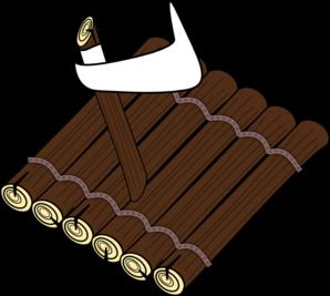 Raft clipart wood Clker Clip Log Raft com