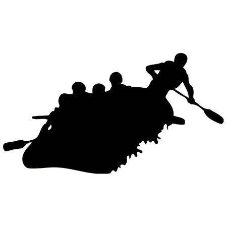Rafting clipart silhouette Wall product 36