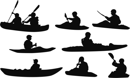 Rafting clipart silhouette Clip Rafting Canoe collection Silhouette