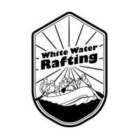 Rafting clipart white water rafting Clipart Free White Black Water