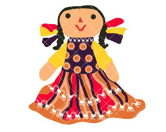 Ragdoll clipart Mexican Colors doll the Mexican