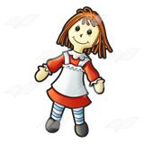 Ragdoll clipart Doll Rag set Collection Cliparts