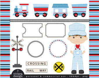 Train clipart red and blue #12