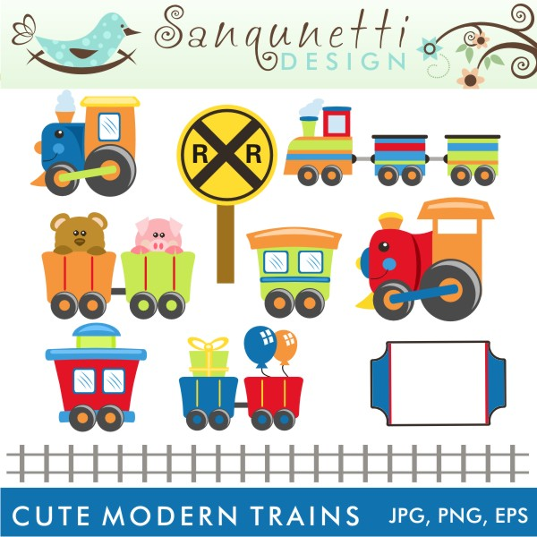 Train clipart cute #1