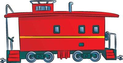 Drawn railroad caboose Image Clipart Free Clip Caboose