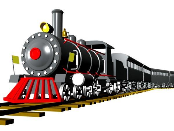 3D clipart train Studio wagon locomotive 3D Vapor