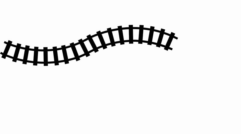 Train clipart curved #6