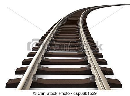 Rails clipart Curved track railroad curved com