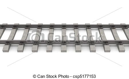 Rails clipart background Of on white background