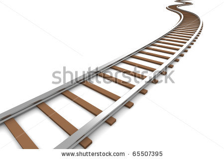 Train clipart curved #4
