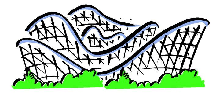 Simple clipart roller coaster Art Coaster Roller Clipart Tracks