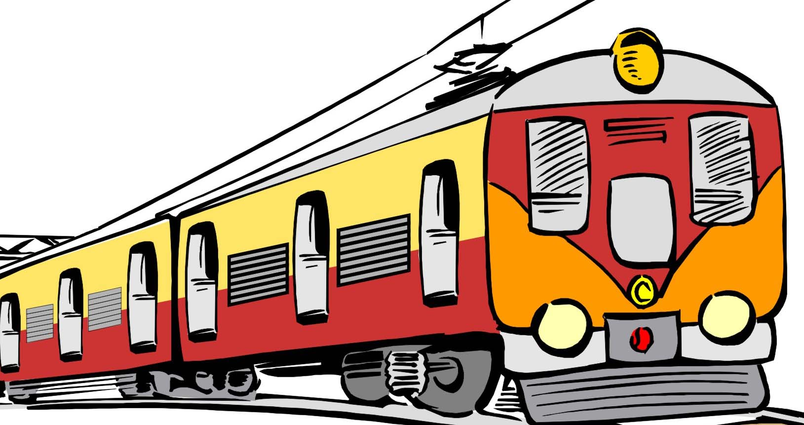 Railway Station clipart passenger train (924) — Clipart Clipartwork Free