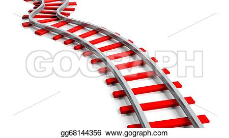 Railways clipart background Isolated rendering Clipart  white