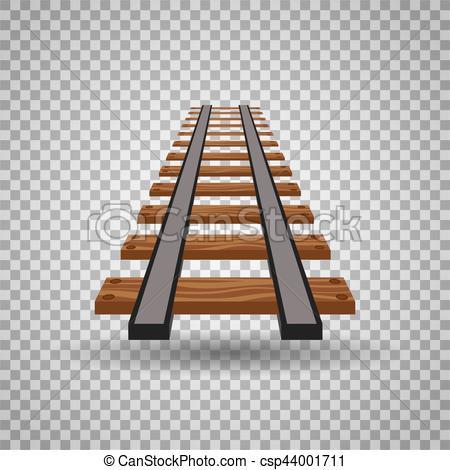 Railways clipart background Transparent rail Clip csp44001711 Railway