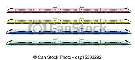 Drawn railroad shinkansen Japan Shinkansen  at train