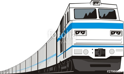 Railways clipart cargo train #1
