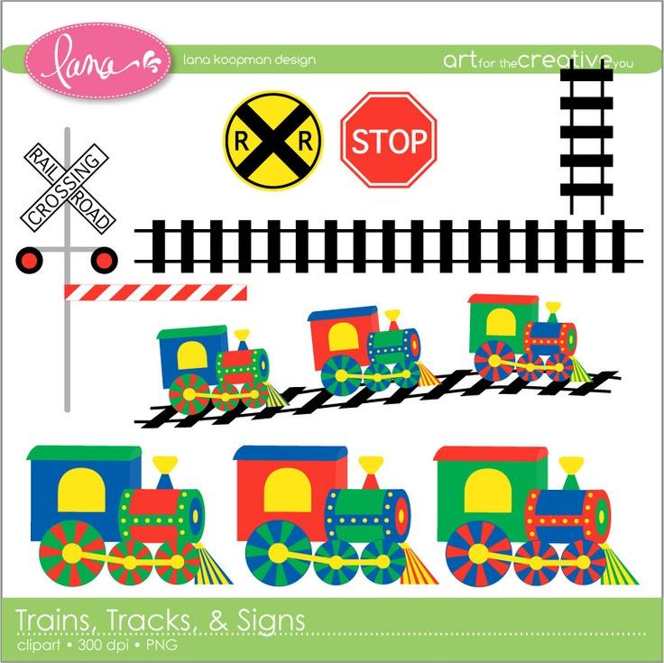 Pastel clipart choo choo train Tracks best $5 Train Digital