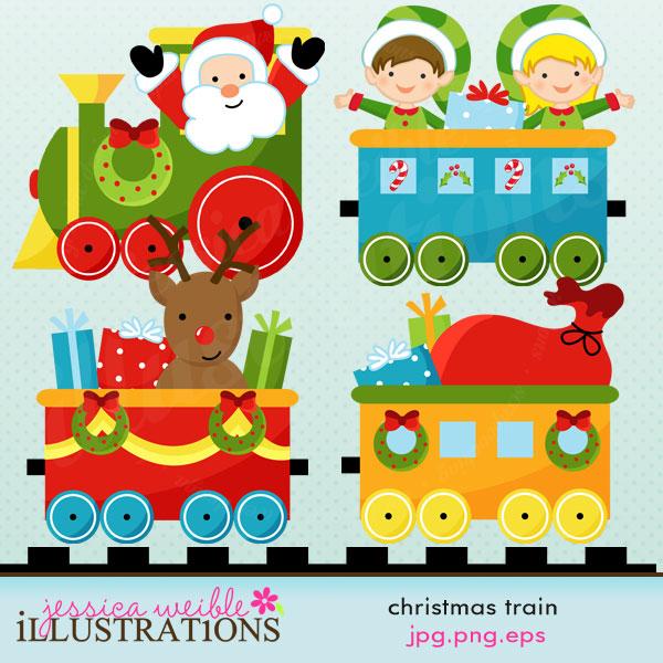 Reindeer clipart presents Christmas Art Download Clip Cliparts