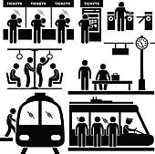 Subway clipart railway platform Royalty Art GoGraph Train Man