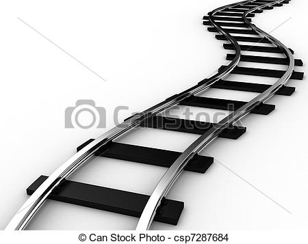 Train clipart curved #7