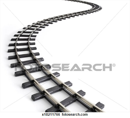 Train clipart curved #1
