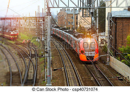 Railways clipart electric train #10